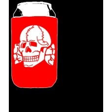 Beer Koozie Red - Death Head