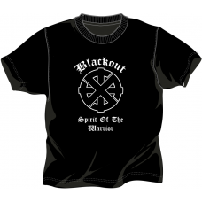 "Blackout  ""Sprit of the Warrior"" T-Shirt Black"