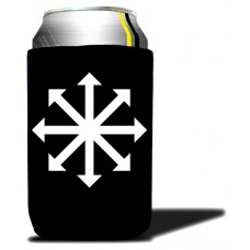 Beer Koozie Black - Chaos Star