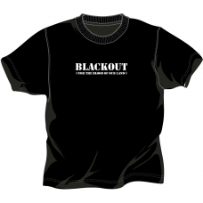 "Blackout ""For the Blood of are Land"" T-Shirt Black  Front Only"