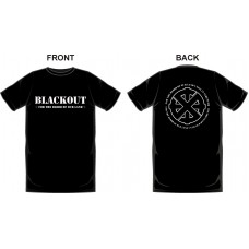 "Blackout  ""For the Blood of are Land"" T-Shirt Black"